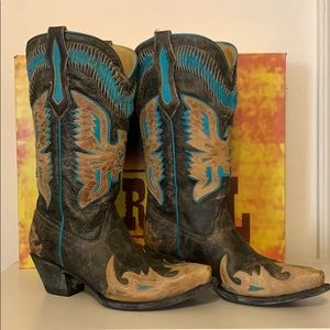 Corral Ladies Turquoise Eagle boots